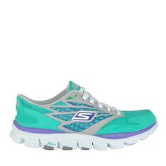 Teal running shoes for the PGCS 5K race on June 22, 2013.  Register at www.chambersschool.org/events
