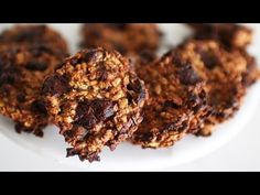 COOKIES FLOCONS D'AVOINE/CHOCOLAT | ENJOYCOOKING - YouTube Pains, Channel, Herbs, Food, Swedish Cookies, Drinks, Chocolates, Bread And Pastries, Recipes