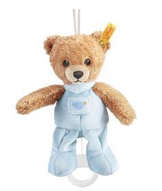Steiff 239595 Sleep Well Bear Music Box blue