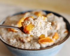 Roasted Peach and Ginger Chia Pudding #raw #vegan #chia