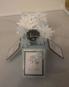 Another box card for Christmas with Snow