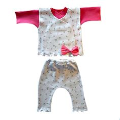 Baby Girls' Dainty Roses Three Piece Clothing Set