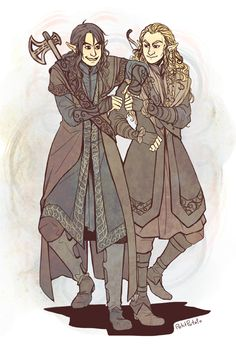 If dwarves were elves Balin and Dwalin! by petitipotato on