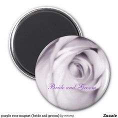 purple rose magnet (bride and groom)