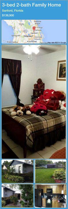 3-bed 2-bath Family Home in Sanford, Florida ►$139,900 #PropertyForSaleFlorida http://florida-magic.com/properties/36269-family-home-for-sale-in-sanford-florida-with-3-bedroom-2-bathroom