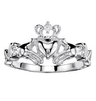 Claddagh Ring with CZ Accent - Silvertone. Regularly $14.99, buy Avon Jewelry online at http://eseagren.avonrepresentative.com/