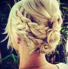 Gorgeous messy braided halo hairstyle