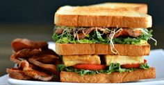 This Vegan Ultimate Club Sandwich is stacked high with delicious healthy vegan foods. And the chips with this vegan sandwich recipe are amazing too.