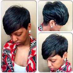STYLIST FEATURE| Love thise #flashback #pixiecut✂️ done by #ChicagoStylist @elegantmidge ❤️Beautiful layers on this cut #VoiceOFHair