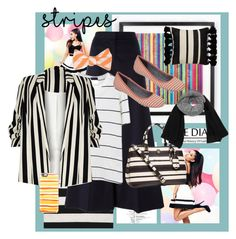 """""""One Direction: Striped Shirts"""" by betsabe13 ❤ liked on Polyvore featuring Liora Manné, Lipsy, STELLA McCARTNEY, River Island, Tory Burch, Dr. Scholl's, Casetify, Kate Spade and stripes"""