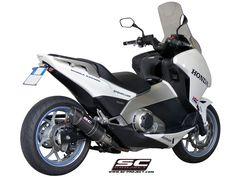 HONDA INTEGRA EXHAUST BY SC-PROJECT Motorcycle Exhaust, Scooters, Performance Exhaust, Exhausted, Yamaha, Honda, Racing, Bike, Vehicles