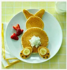 Cute for Easter - Bunny pancakes