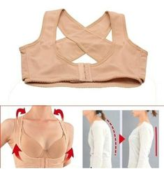 ieasysexy 2014 style Adjustable underwear Lady Chest Breast Support Belt Band Posture Corrector Brace Body Sculpting Strap Back Shoulder Vest X Type Pattern Prevent Chest sagging outside enlarge on the chest for female/women (M) Shoulder Posture, Posture Bra, Back Posture Corrector, Lady, Leopard Bikini, Posture Correction, Body Sculpting, Mode Style, Shapewear