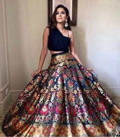 Indian Lehenga, Brocade Lehenga, Banarasi Lehenga, Western Lehenga, Indian Bridal Outfits, Indian Designer Outfits, Designer Dresses, Indian Designers, Indian Fashion Trends