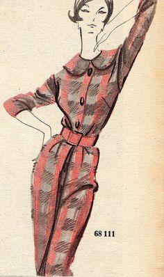 The 1960s-1960 L'écho de la mode illustration   Flickr - Photo Sharing!
