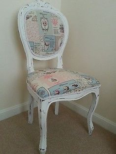 Beautiful Shabby Chic French Vintage Louis bedroom chair - GORGEOUS x