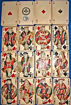 VARIOUS VINTAGE CONTINENTAL PLAYING CARDS