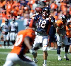 Bronco QB Peyton Manning 2014 Summer Scrimmage