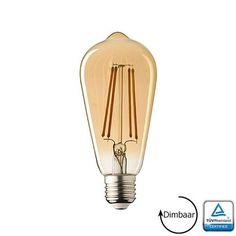 E27 LED lamp Filament Rustique Edison Dimbaar 3.6 Watt 2100K