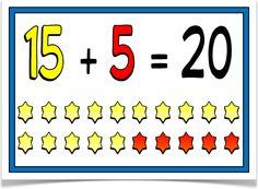 Number Bonds to 20 - Treetop Displays - EYFS, classroom display and primary teaching aid resource Ks2 Classroom, Classroom Displays, Number Bonds To 20, Primary Teaching, Numeracy, Eyfs, Kindergarten, Year 2, Craft Ideas