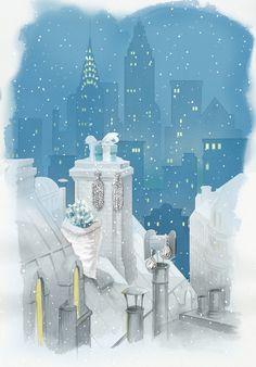 Romantic Renderings of Tiffany & Co.'s Holiday Windows