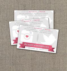 If you use Instagram or Twitter Sign. Instagram Sign at Wedding. Instagram Wedding. DIY