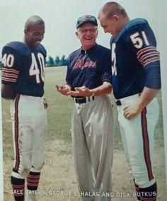 Gayle Sayers, Geo Halas n Dick Butkus ... Chicago Bears