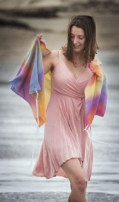 Light Rainbow tallit Tallit, Prayer Shawl, Bat Mitzvah, Prayers, Rainbow, Hands, Turquoise, Silk, Elegant
