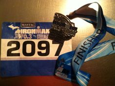 Finisher!  Ironman 70.3 Steelhead. So happy I did it and can't wait to do another.