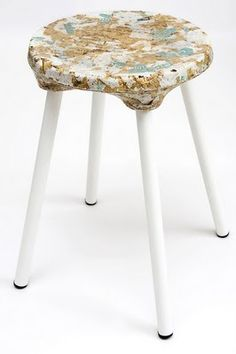 Sawdust by Kulla Design - Design Milk Eco Furniture, Sustainable Furniture, Recycled Furniture, Handmade Furniture, Sustainable Design, Furniture Design, Automotive Furniture, Automotive Decor, Plastic Chair Design