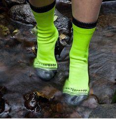 Keep your piggies dry. Water proof socks!