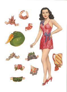 Miss Missy Paper Dolls: Hedy Lamaar