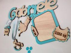 nome in legno con personalizzazione dei dati di nascita... con cornice per foto.. tutto realizzato a mano da seregraphics