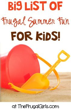 BIG List of Frugal Fun Summer Activities for Kids! ~ from TheFrugalGirls.com ~ your kids will love these creative indoor and outdoor ideas to keep the 'I'm bored' out of those lazy days of summer! #kidsactivities #activity #thefrugalgirls