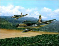 F-100D Super Sabre en Vietnam, del 35th TFW, 352nd TFS 'Yellow Jackets'. Mark Karvon. Más en www.elgrancapitan.org/foro