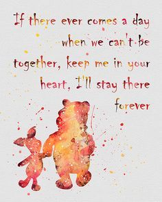 Quote from Winnie-the-Pooh DISNEY Watercolor by digitalaquamarine Cute Quotes, Great Quotes, Quotes To Live By, Inspirational Quotes, Motivational Quotes, Short Friendship Quotes, Winnie The Pooh Quotes, Disney Quotes, Beautiful Words