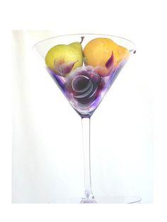 Hand Painted Martini Glasses  Purple and by HandPaintedPetals