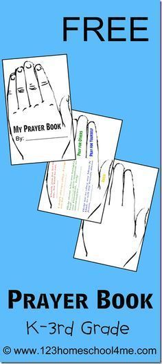 Free Printable Prayer Book for Kids - this is such a fun Bible printable activity for Sunday school lessons for preschool, kindergarten, first grade, 2nd grade, 3rd grade, and 4th grade kids.