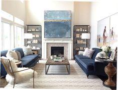 """Freue mich, euch diesen Artikel aus meinem Shop bei #etsy vorzustellen: VICTORIA XXL Acryl Gemälde """"Blue Sky"""" 90x90cm Abstrakt mit Blattgold Victoria, Gold Leaf, Picture Frames, Gallery Wall, Sky, Abstract, Blue, Painting, Home Decor"""