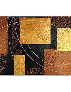 Hand-painted Abstract Oil Painting with Stretched Frame – EUR € 132.99
