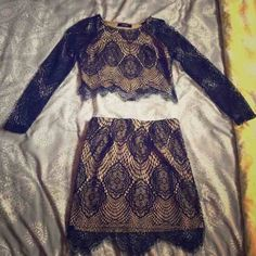 Two piece Lace Skirts Mini
