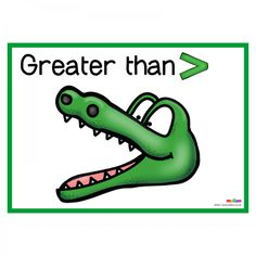 Make learning about greater than and less than fun and engaging with this crocodiles resource! Included are 2 colourful resources in landscape prin Free Teaching Resources, Teaching Aids, Student Teaching, Teaching Science, Less Than Greater Than, Tens And Ones, School Tomorrow, Preschool Math, Kindergarten