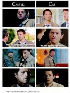 ''There's a difference between Castiel and Cas.'' I'd even say a HUGE difference... ♥ / Supernatural