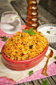 Easy 30-Minute Pressure Cooker Keema Biryani / Indian style Rice Pilaf with Ground Meat