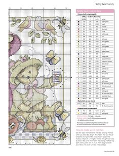 Teddy Bears Picnic From Cross Stitch Gold N°126 January 2016 4 of 4
