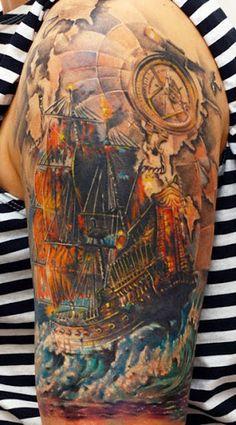 Realism Nautical Tattoo by Sergey Gas
