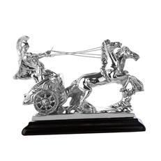 Get a Little Chariot sparkling beauty at just Rs. 3,950/- It is in electroformed silver featuring 2 horses pulling a chariot with a charioteer on it; all immaculately crafted.  Earn a cashback from cashbackurl.in with the purchase. Check the landing page for more details about the product... Limited stock... Hurry... Order now.....   Product Features Dimensions: L=14 cms, H=14 cms Electroformed silver finish Color: Silver Shipping time: 2-5 days Easy to maintain