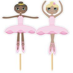 Ballerina prikkers, voor cupcakes of eierkoek traktaties!