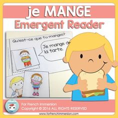 FRENCH Emergent Reader - je MANGE Vocabulary Practice, Fun Illustration, French Immersion, Emergent Readers, Student Reading, Interactive Notebooks, Teacher Pay Teachers, Reading Comprehension, Kindergarten