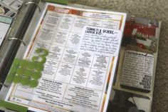 Project Life ~ Including School Lunch Menus